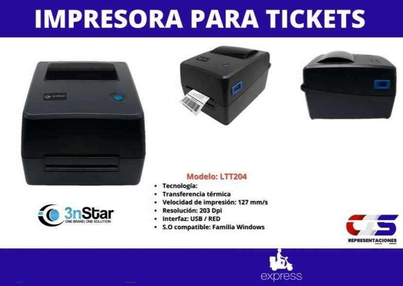 Impresora para ticket 3NSTAR etiqueta transferencia térmica - 0