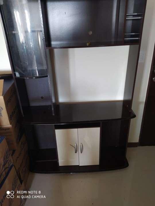 Mueble para sala para tv tipo rack estante - 4