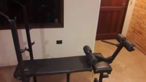 Banquito multifunción para gimnasio en casa