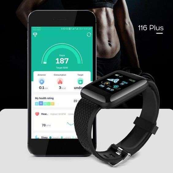 Smartwatch 116 Plus negro - 1