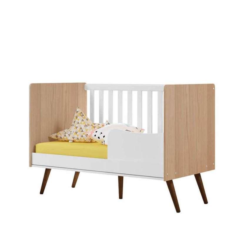 Cuna mini cama 2857 retro Qmovi Carvallo Tex blanco 30331 - 0