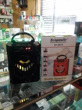 Speaker a bluetooth USB y radio FM Ecopower