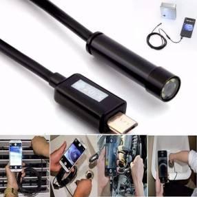 Boroscopio USB para celulares, con luz LED