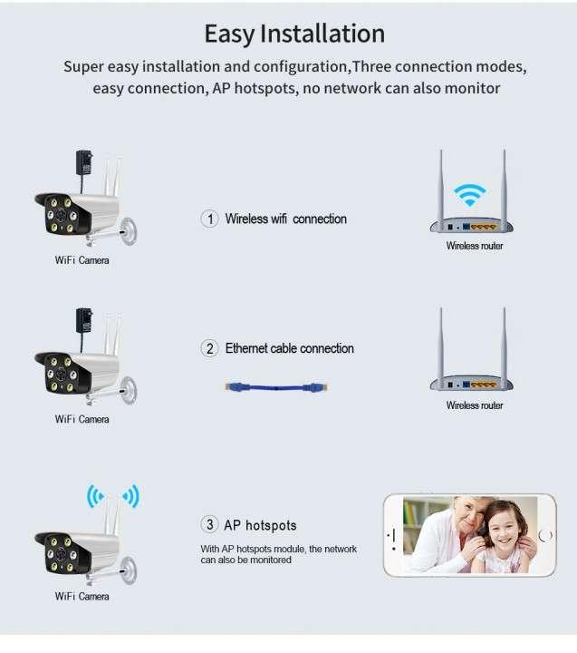 Cámara IP wifi externa 2 antenas hd de acceso remoto - 2