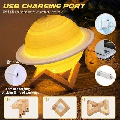 Humidificador Saturno 3D - 1