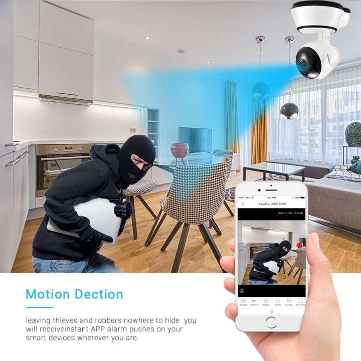 Cámara wifi 360° P2P IP Home 720p - 2