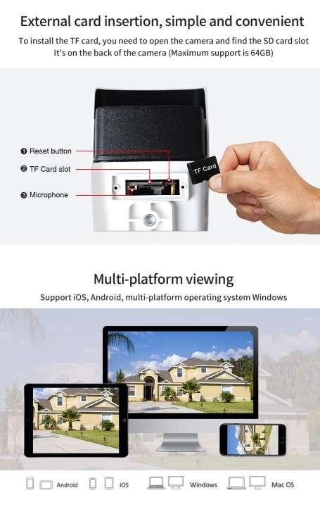Cámara IP wifi externa 2 antenas hd de acceso remoto - 4