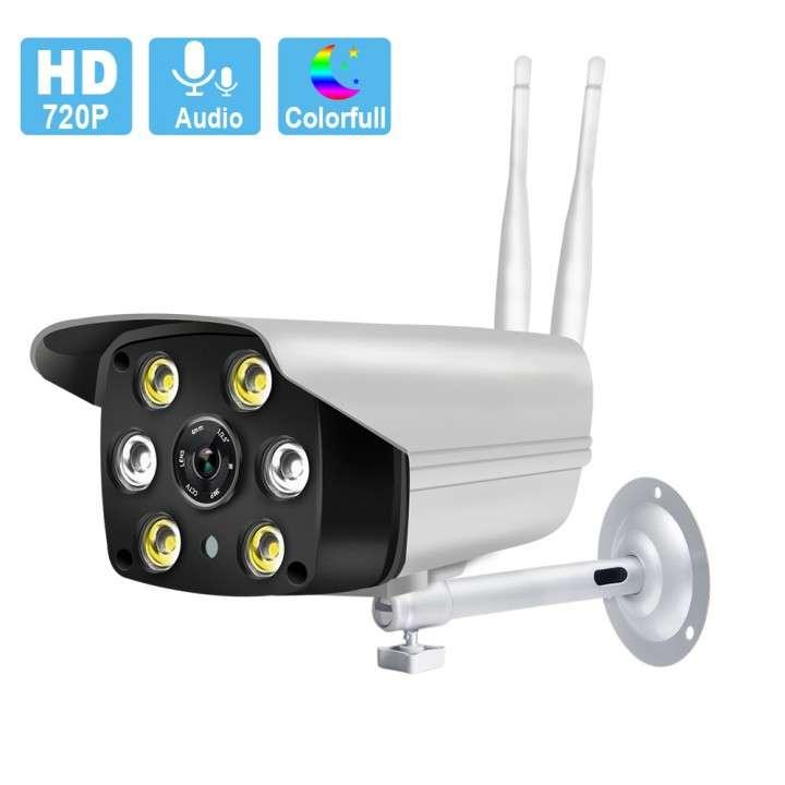 Cámara IP wifi externa 2 antenas hd de acceso remoto - 0