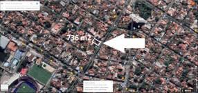 Terreno 736m2 en esquina EEUU y Lomas Valentinas