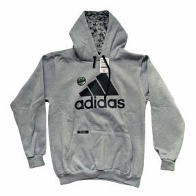 Capucha con canguro gris talla G Adidas