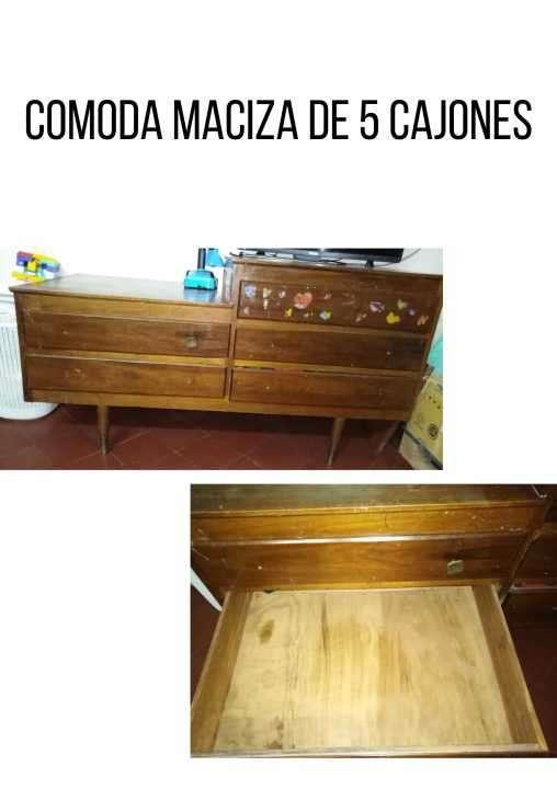 Cómoda de madera maciza - 0