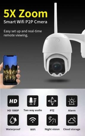 Cámara de seguridad IP con 5X Zoom WiFi - Visión nocturna