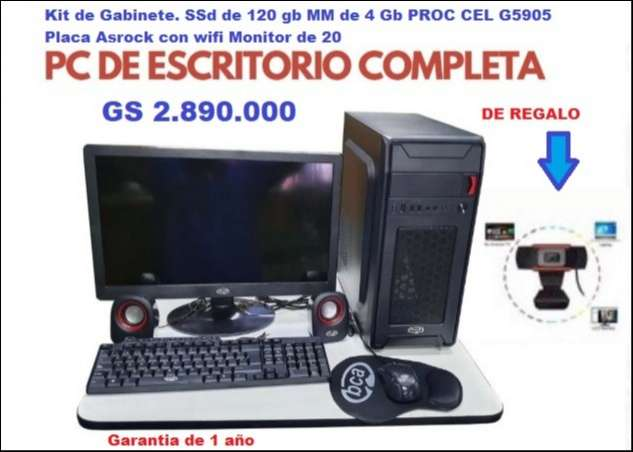 PC de escritorio con cámara web de regalo - 0