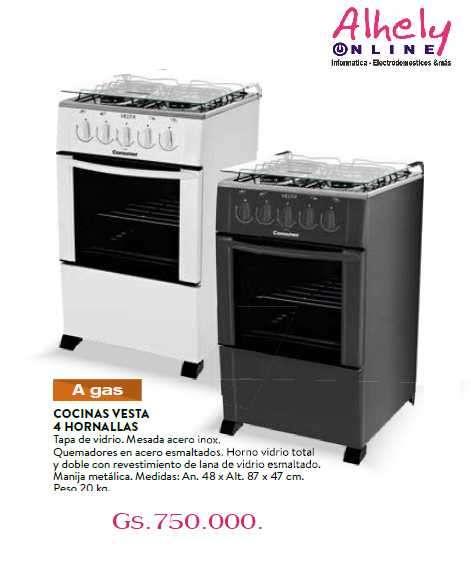 Cocina a GAs 4 hornallas Consumer - 0