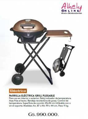 Parrilla Electrica Plegable