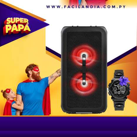 PARLANTE PHILIPS PARTY TANX200/10 + RELOJ HUMMER - 2