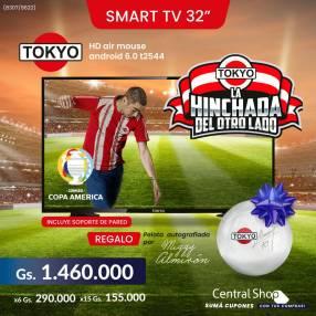 Smart TV Tokyo 32 pulgadas con pelota de regalo