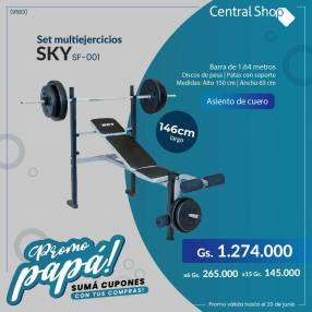 Banco c/ pesas Sky