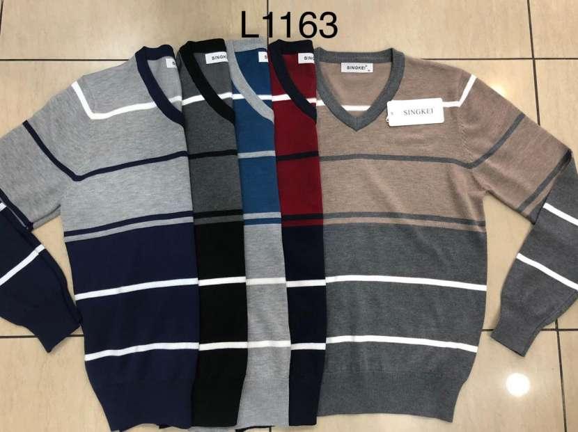 Suéter para hombre cuello V SINGKEIL1163 - 0