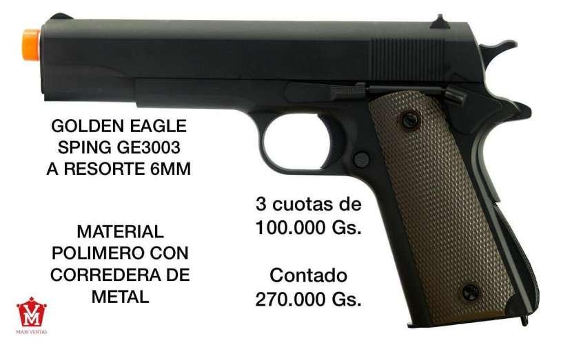 Pistola airsoft Golden eagle 6mm corredera de metal - 0
