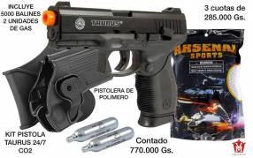 Kit airsoft pistola + cápsulas CO2 + 5000 balines