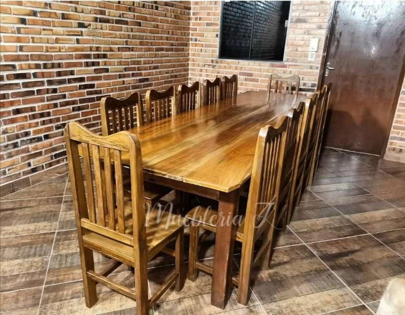 Juego de comedor con 12 sillas de tajy - 4