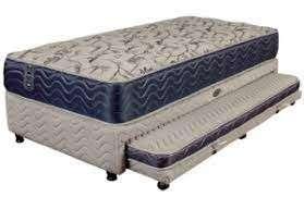 Cama de plaza y media con cama extra abajo - 1