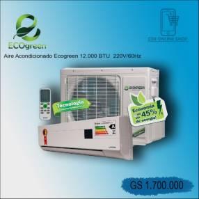 Aire acondicionado Eco Gren de 12.000 btu