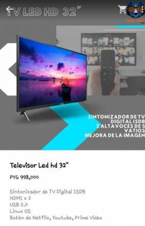 Televisor hd LED 32 pulgadas