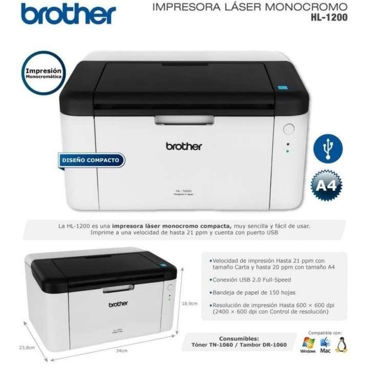 Impresora monocromático Brother (HL1200) - 0