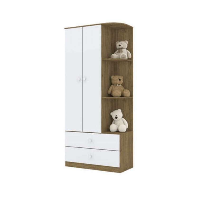 Ropero 2 puertas labirinto i117 henn rústico|blanco (30343) - 1