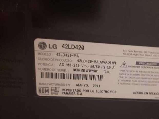 TV LCD LG de 42 pulgadas - 1