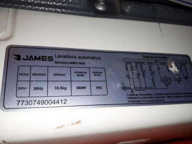 Lavarropas automática James - 3