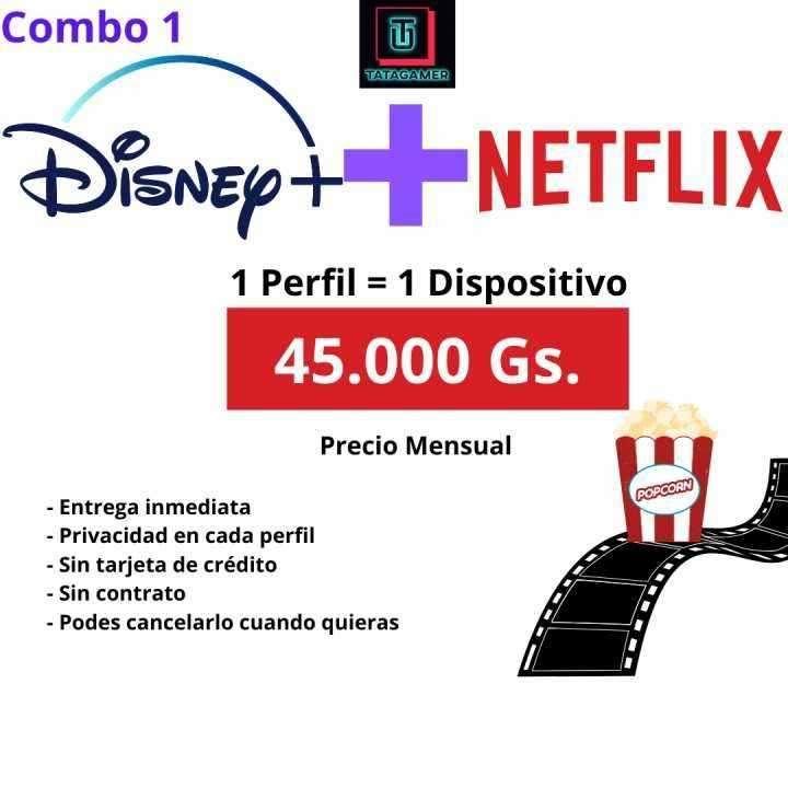Cuentas Netflix + Disney Plus - 0