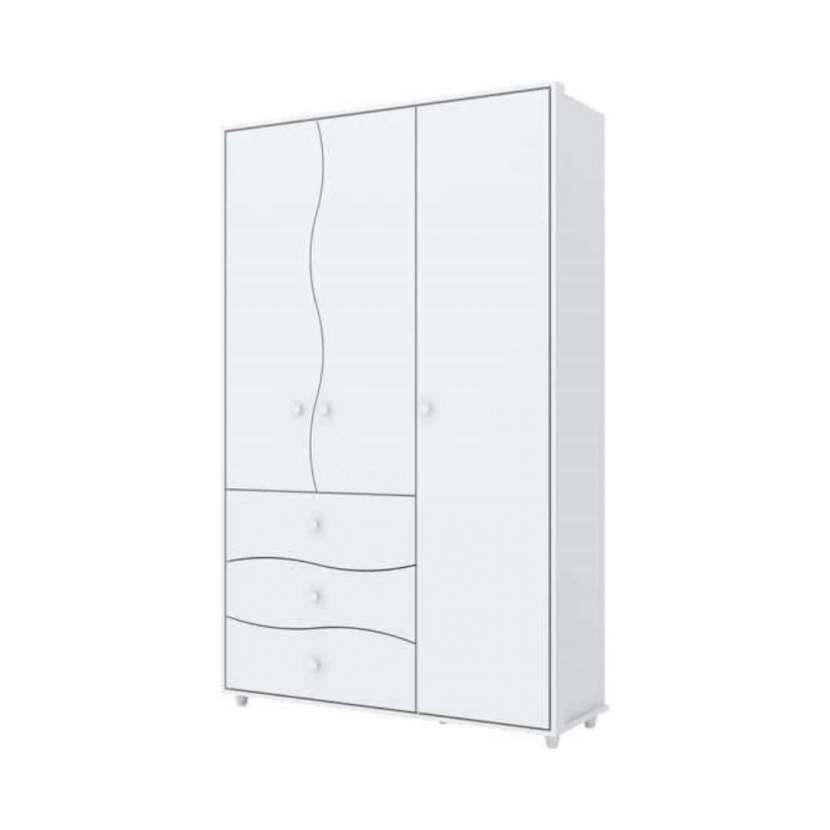 Ropero 3 puertas adoleta i118 henn blanco flex (30337) - 1