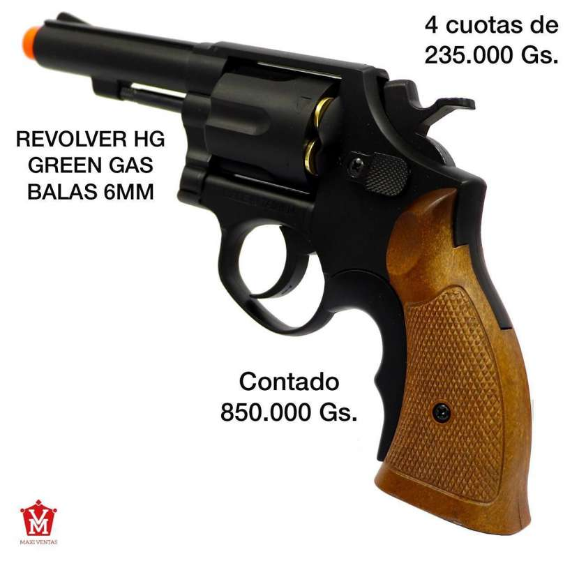 Revolver HG airsoft Green gas 6mm - 0