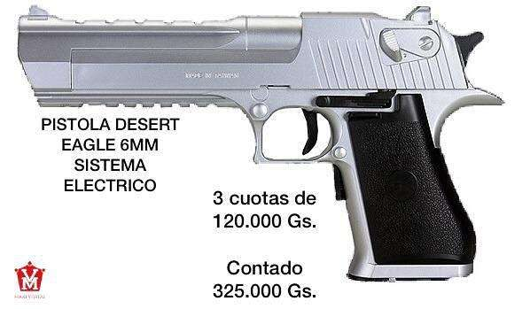 Pistola desert eagle 6mm sistema eléctrico - 0