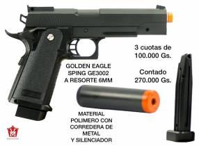 Pistola Airsoft Golden Eagle 6mm corredera de metal con silenciador