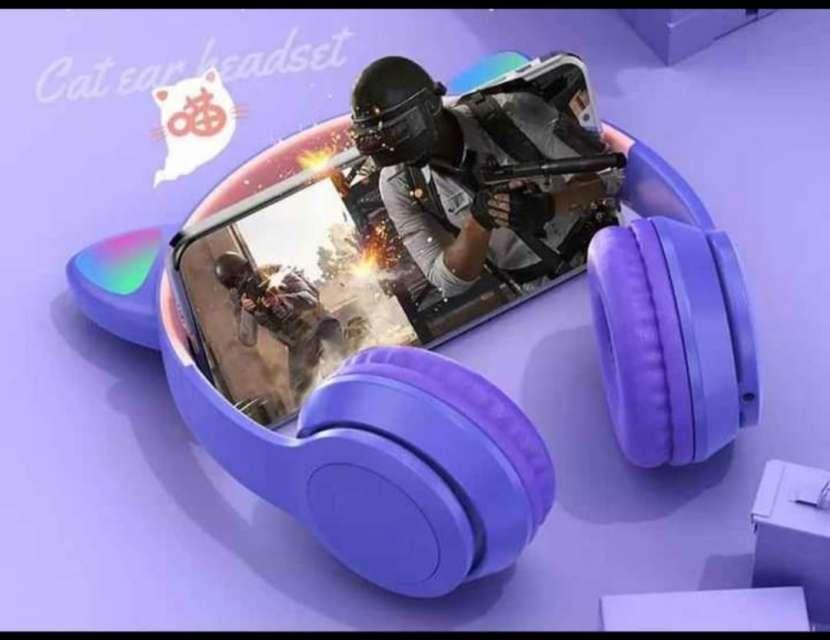 Audifonos para gamer de orejas de gatito - 1