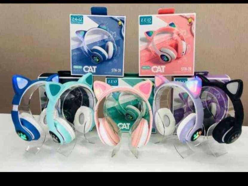 Audifonos para gamer de orejas de gatito - 2