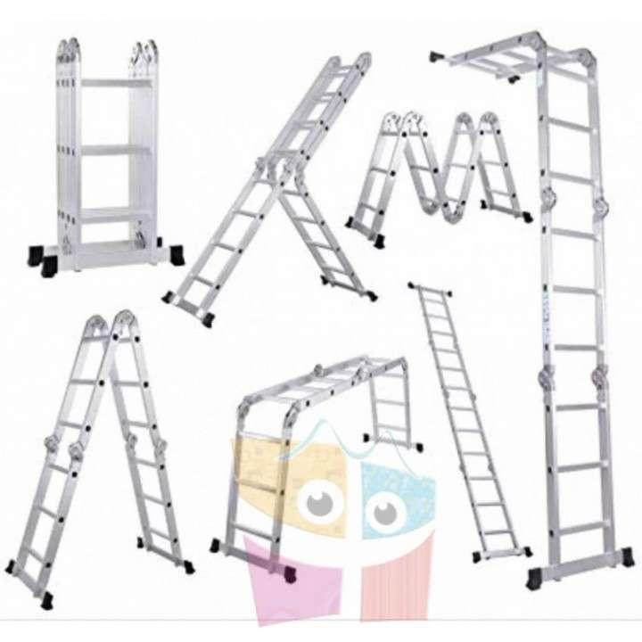 Escalera - 4,75 Mtrs - Articulada Plegable - 16 Peldaños - 1