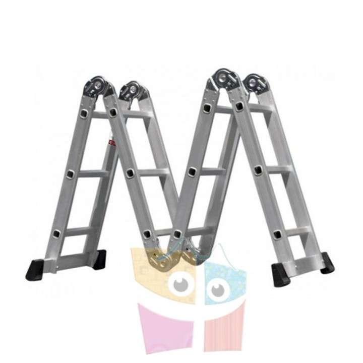 Escalera - 4,75 Mtrs - Articulada Plegable - 16 Peldaños - 3