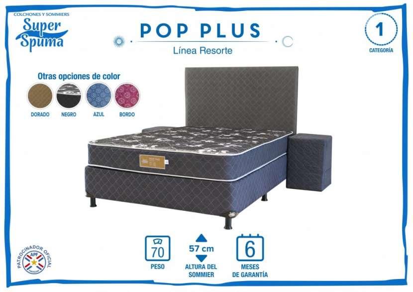 Sommier Pop Plus 1,40 x 1,90 soporta 70 Kg Super Spuma - 0