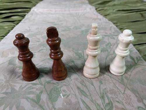 Juego de ajedrez magnético de madera 39x39 cm - 5
