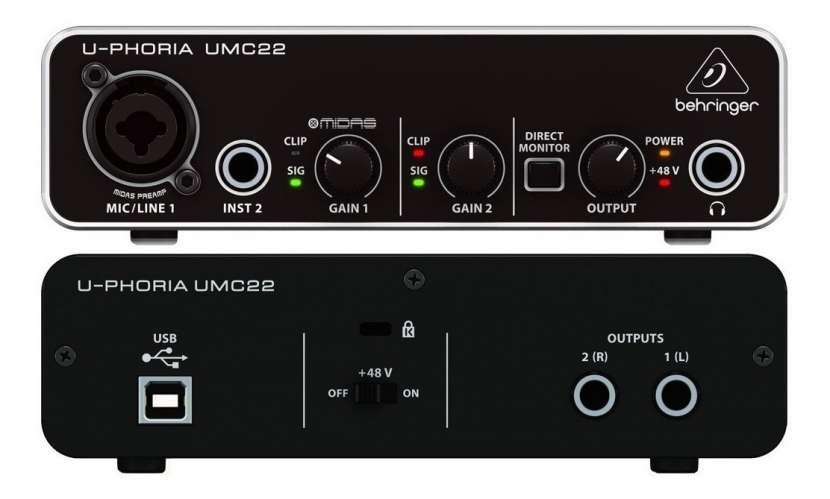 Interfaz Behringer UMC22 - 1
