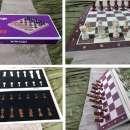 Juego de ajedrez magnético de madera 39x39 cm - 0