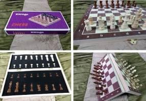Juego de ajedrez magnético de madera 39x39 cm