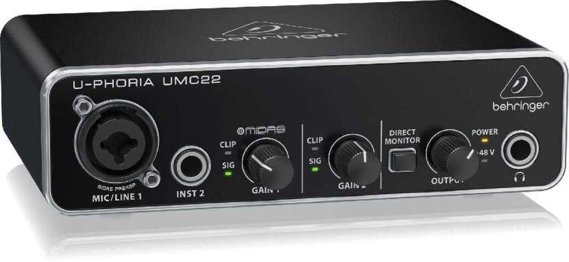 Interfaz de audio umc22 con preamp midas - 1