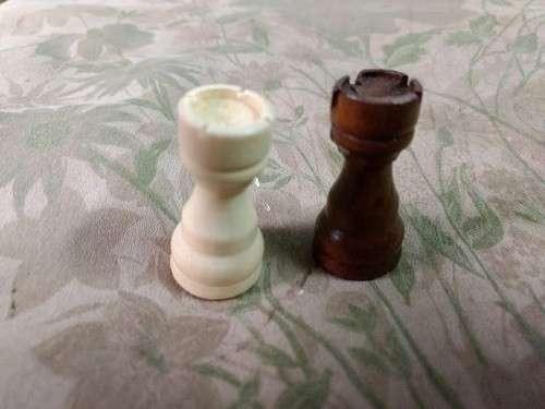 Juego de ajedrez magnético de madera 39x39 cm - 7