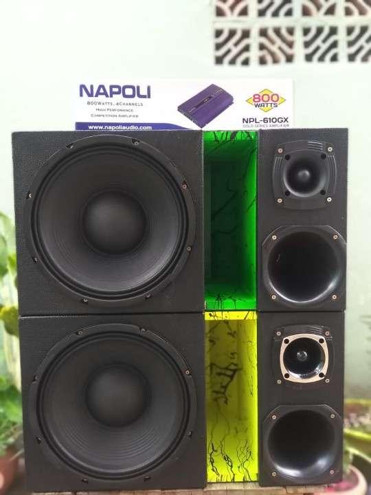 Caja acústicas tipo trío golpe seco - 1